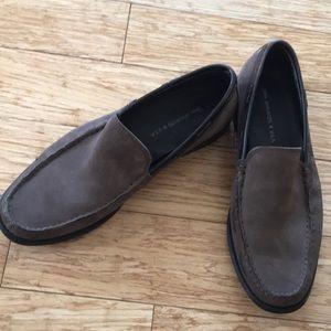 John Varvatos suede loafers 9.5 EUC